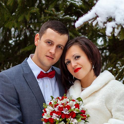 Екатерина и Юрий молодожёны